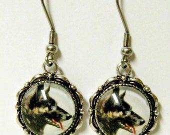 German Shepherd dog earrings - DAP07-040