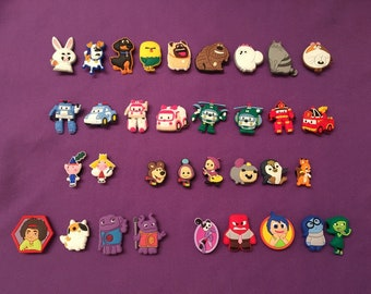 Shoe Charms for Crocs - Secret Life of Pets, Inside Out, Home, Masha and the Bear, Ben and Holly, Robocar Poli / Party Favors, Jibbitz
