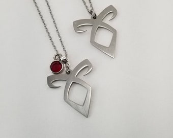Angelic Rune Necklace, Shadowhunters Necklace, Enkeli Rune Necklace, Birthstone Jewelry
