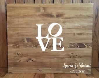 Wedding Guestbook//Alternative Guestbook//Wood Guestbook//Rustic Wedding//24x30