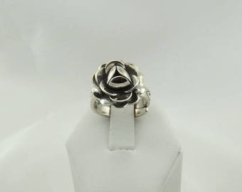 Unique Adjustable Size Rose Sterling Silver Ring  FREE SHIPPING!  #ROSE-SR6