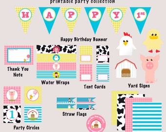 Petting Zoo, Barnyard Birthday-FULL COLLECTION - As seen on Hostess with the Mostess