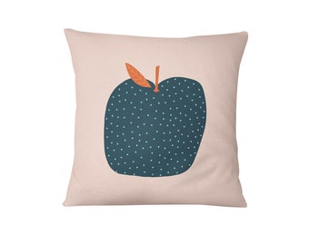 Apple Cushion - Nursery Cushion Cover - Throw Pillow - Nursery Decor - Soft Furnishings - Cushion Covers - Housewarming Gift - Home Decor