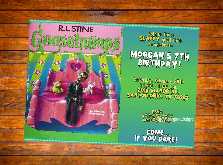 Goosebumps Slappy CUSTOM PERSONALIZED Invitation Digital or