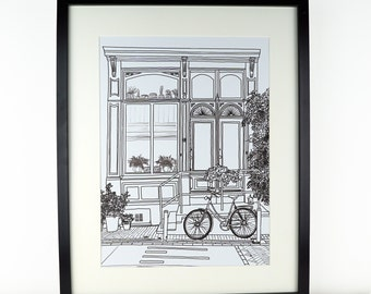 Amsterdam Picture, travel art, Monochrome art, artwork, Print of Amsterdam, Holland, Amsterdam Print, Travel art, Wanderlust