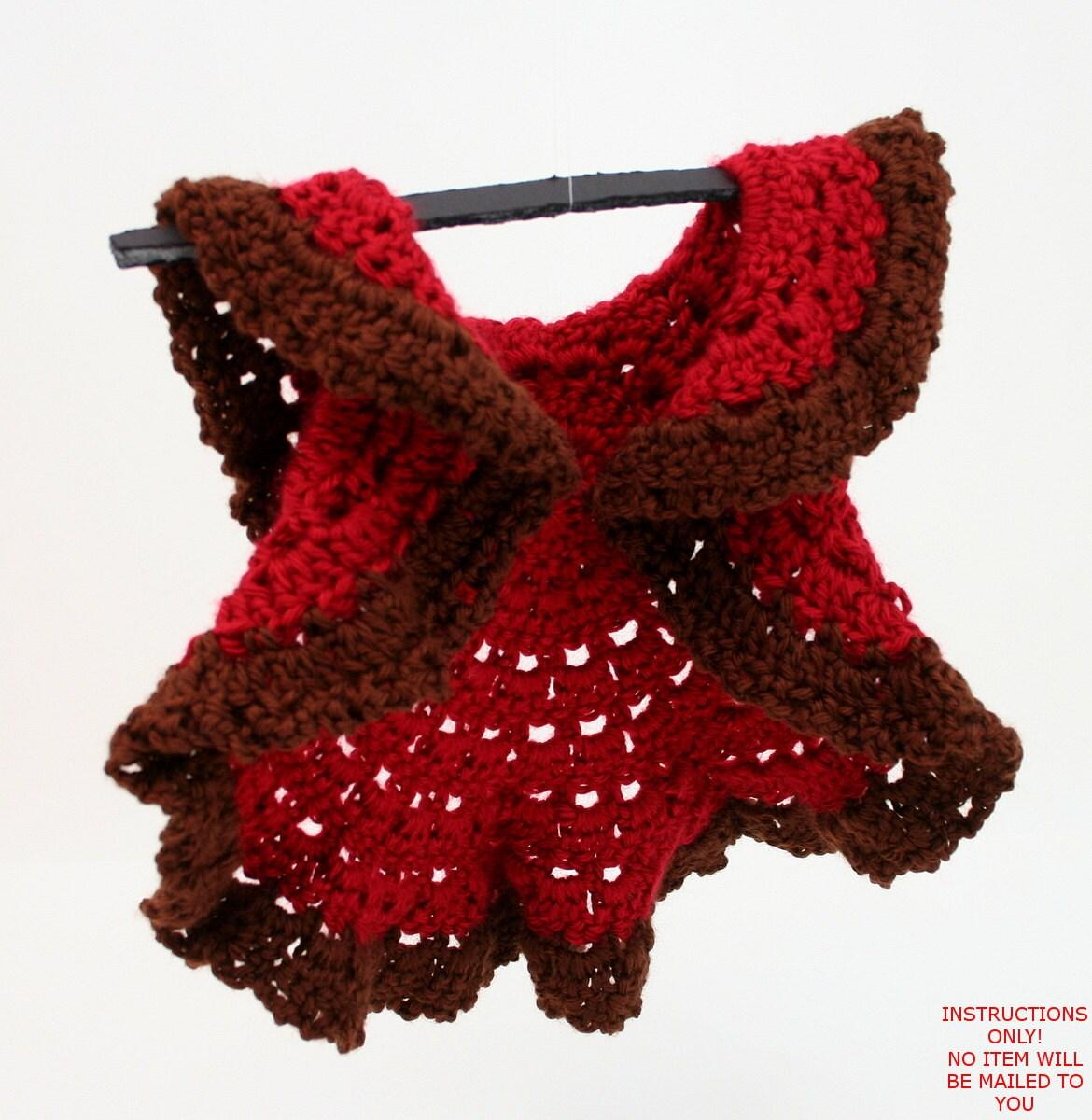PDF DIGITAL PATTERN:Baby Circle ShrugCrochet Baby Sweater