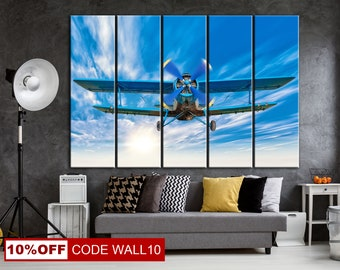 Fighter, Airplane poster, Fighter, Fighter canvas, Airplane canvas, Old fighter, Plane with propeller, Propeller plane, Air plane,  Airplane