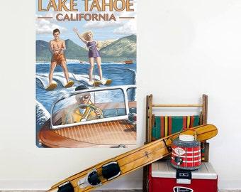 Lake Tahoe California Waterskiing Wall Decal - #60903