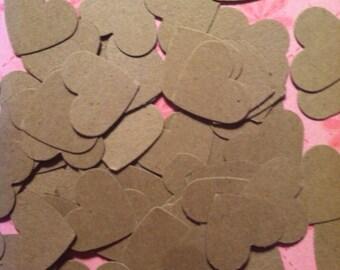 Kraft Heart Confetti