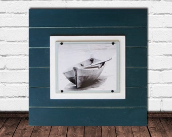 Deep Teal 21x21 XTRA LARGE  Plank Frame for 8x10
