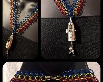 Handmade Superman European Weave Necklace