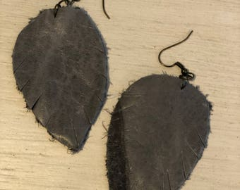 Leather Statment Earrings