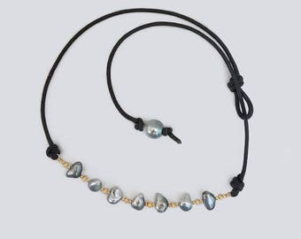 Lucky Seven Tahitian Keshie Pearl Necklace