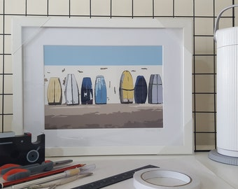 Framed print of 'At the end of the day' by Maxine Walter