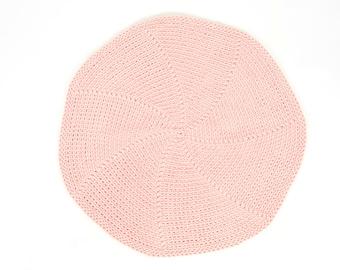 16 colors SOFT Ø 70-200 cm  crocheted  RUG / nursery rug / pastel carpet