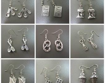 Baking Earrings - Cooking Earrings - Cookery Earrings - Bake Inspired Earrings - Cake Earrings - Food Earrings