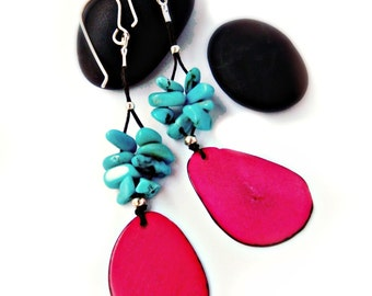 Elegant Tagua Earrings - Sterling Silver / Eco Jewelry