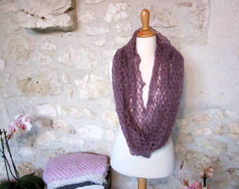 Snood en Kid Mohair et soie