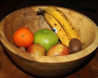 big woodturned bowl