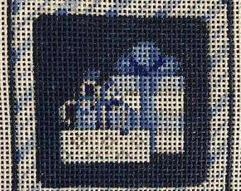"50% OFF Handpainted Needlepoint Associated Talents #EE794 ""Gifts Hanukkah Mini Square"""