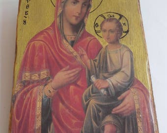 Square with portrait of Madonna and Child of the years 1970