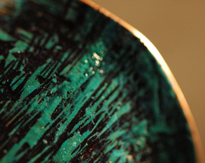 Hammered Copper Cuff-Handmade Patinated Green and Black Bracelet with Forged Texture on Pure Copper by Michael Ferreira on Etsy