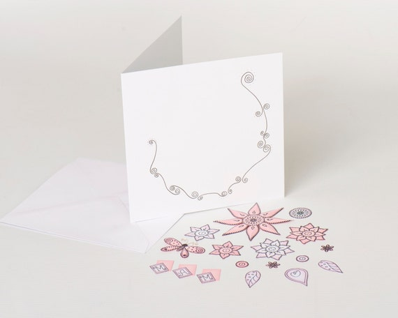 Mothers day card kit craft kit diy greeting cards cardmaking mothers day card kit craft kit diy greeting cards cardmaking make your own cards beginners kit pink paper flowers handmade mum card from m4hsunfo