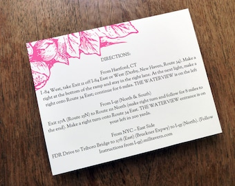 Printable Wedding Information Card - Wedding Enclosure Card Template - Floral - Pink Florals