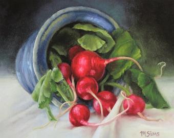 Radishes - Art print - Still life - kitchen art - Wall decor - giclee print - Print Sale