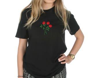 Rose Bunch T-shirt Top Shirt Tee Fashion Grunge Tumblr Roses