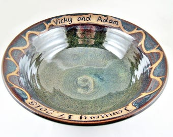 Personalized Pottery Anniversary gift for the 9th wedding anniversary