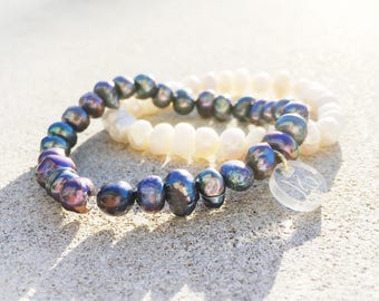 Delicate Freshwater Pearl Stretchy Bracelet