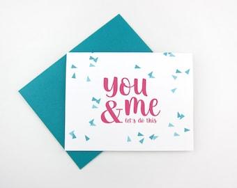 You and Me: Love / Like / Anniversary Card