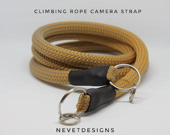 Camera Strap | Climbing Rope Camera Strap | Rope Camera Strap | DSLR Strap | Mirrorless Camera Strap | Film Camera Strap