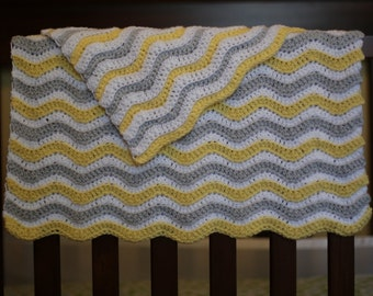 Baby CROCHET PATTERN Easy Blanket Afghan NEWBORN Car Seat Stroller Beginner Build A Chevron