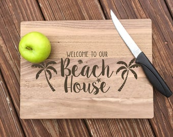 Beach House Decor, Beach Decor, Personalized Cutting Board, Beach House Signs, Beach Signs, Beach House, Cutting Board, Engraved, Gifts
