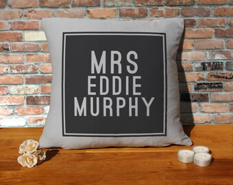 Eddie Murphy Pillow Cushion - 16x16in - Grey