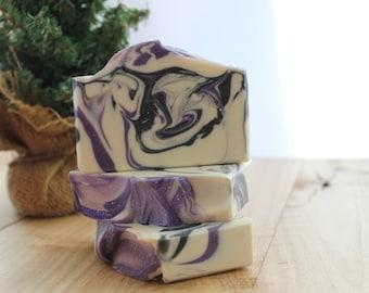 Black Raspberry Vanilla Handmade Soap, Cold Process Soap, Gift Idea