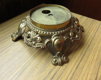 Vintage Very Orante Lamp Light Base Part Salvage