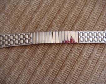 Men's Stainless Wrist Watch Band Watch Band Baldwin Vintage New Stock  Expansion Band