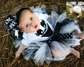 Ghost Tutu Halloween Costume-Baby Girl Ghost Costume-Ghost Tutu Costume-My First Halloween Outfit-Ghost Tutu Outfit *Headband NOT Included*