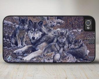 "Wolves iPhone Case, Wolves iPhone   Case, Wolves iPhone Case Protective Wolf Phone Case ""Den Mother"" 50-3101"