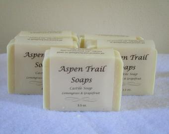 Castile Soap with Lemongrass & Grapefruit Essential Oil