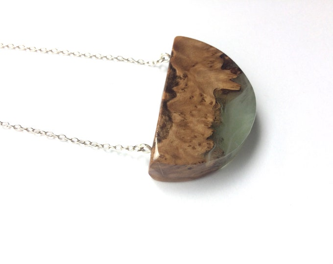 Featured listing image: Burl Wood and Green and White Resin