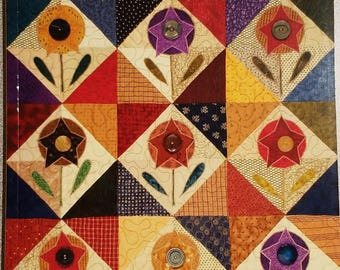 Flowering Quilts - 16 Charming Folk Art Projects to Decorate Your Home by Kim Schaefer, New, FREE SHIPPING