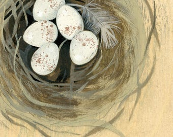 "Reproduction of original ""Wren Nest"" painting"