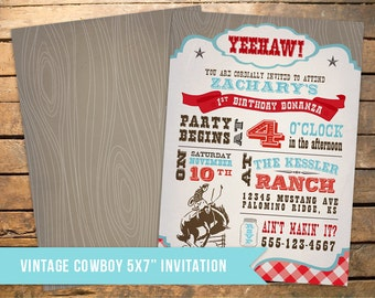 Cowboy Birthday Theme - Invitation and printable party pack!