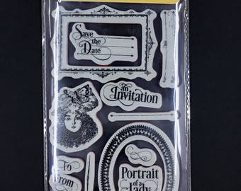 "Graphic 45  ""Portrait of a Lady""  Cling Stamp #3"