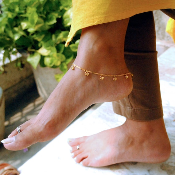 beads pleated products store bracelet fashioncouture steel ankle stainless collections foot gold jewelry barefoot anklets women anklet shaped heart sandal