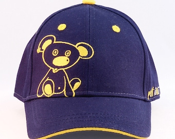 nunu_bear - Baseball cap girl or boy / toddler or kid up to 5 years / hats available in two sizes